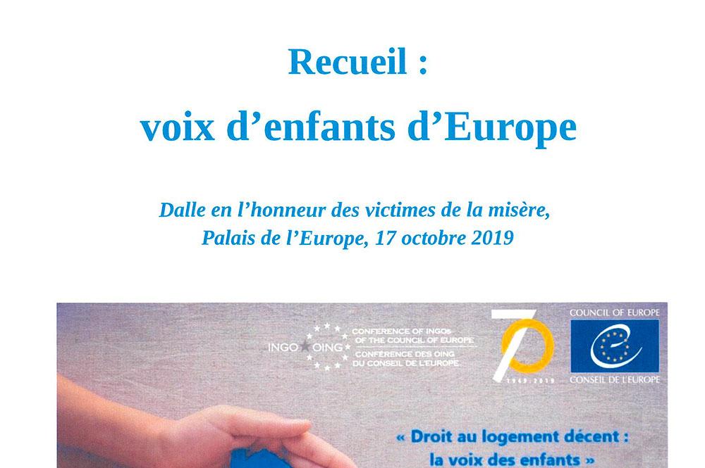 Recueil Voix d'Enfants d'Europe