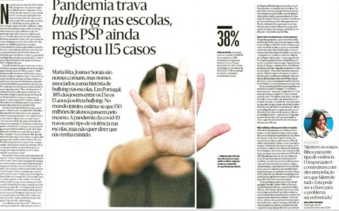 Pandemia trava bullying nas escolas, mas PSP ainda registou 115 casos