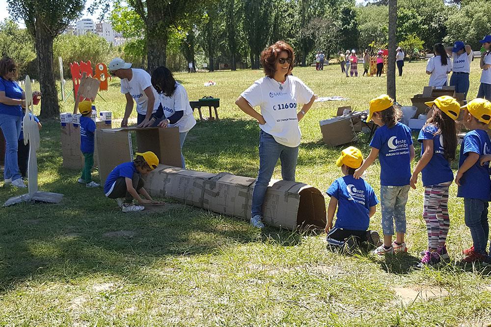 Atividades lúdicas no âmbito do projeto Coimbra a Brincar
